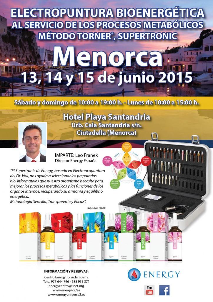 Seminario ENERGY Menorca 13,14 y 15 Junio 2015