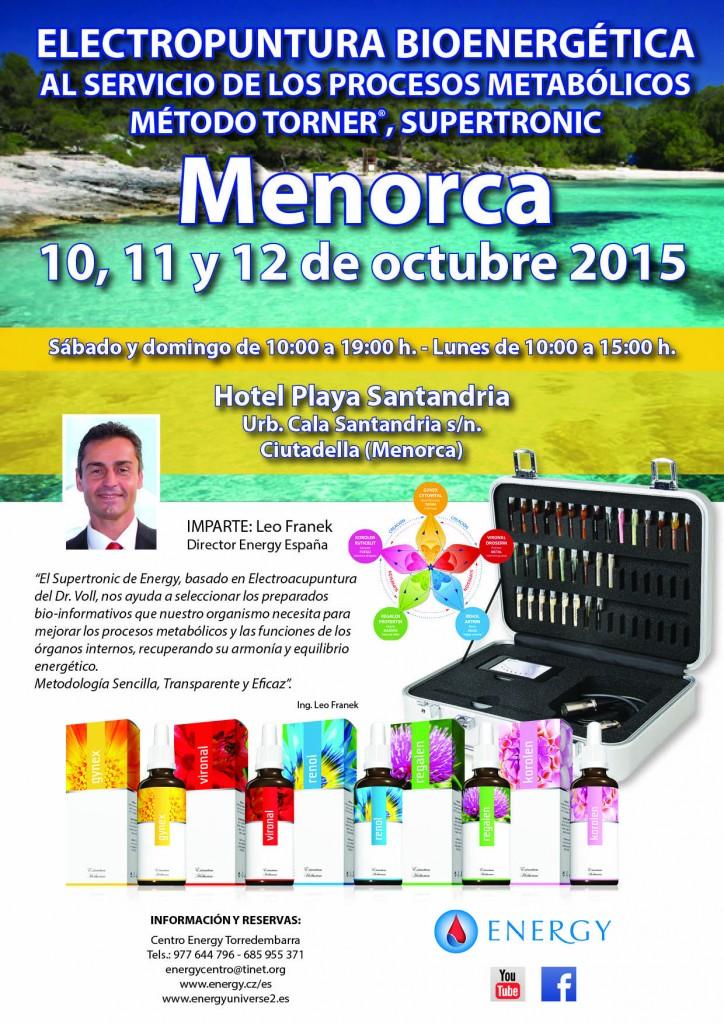 Seminario ENERGY Menorca 10,11 y 12 OCTUBRE 2015