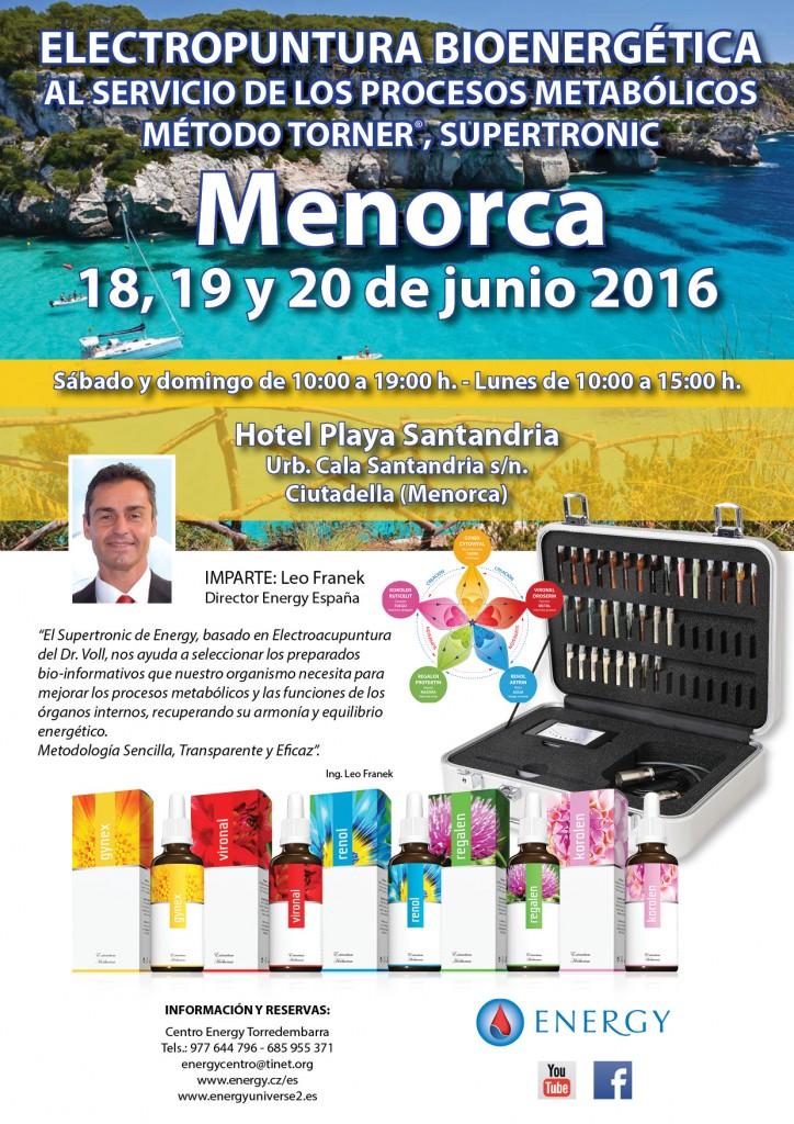 Seminario ENERGY Menorca 18,19 y 20 junio 2016