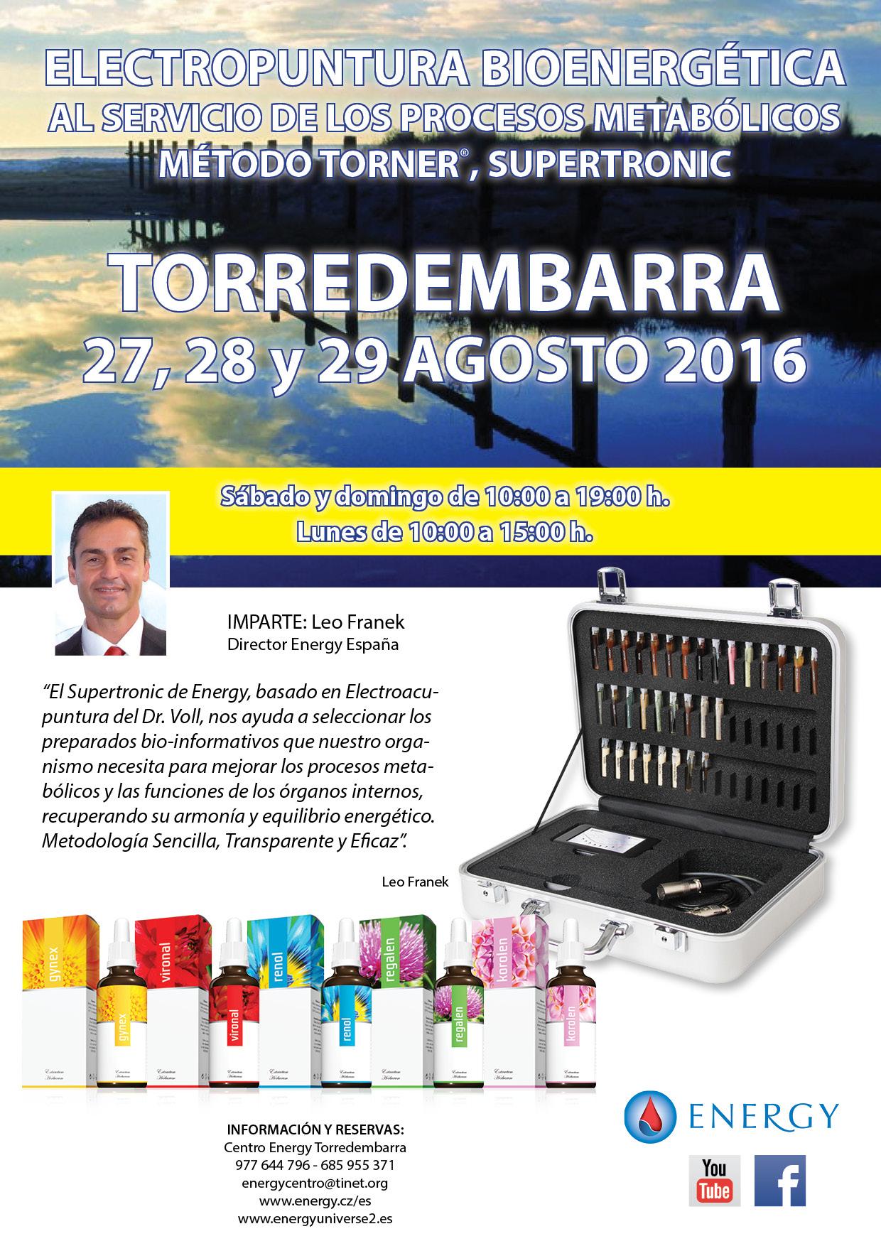 Seminario ENERGY Torredembarra 27,28 y 29 agosto 2016