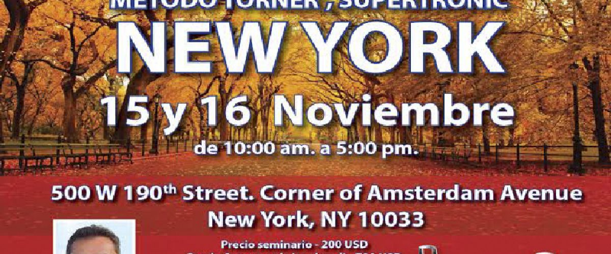 Seminario Electropuntura Bioenergética (New York, 15 y 16 de noviembre)