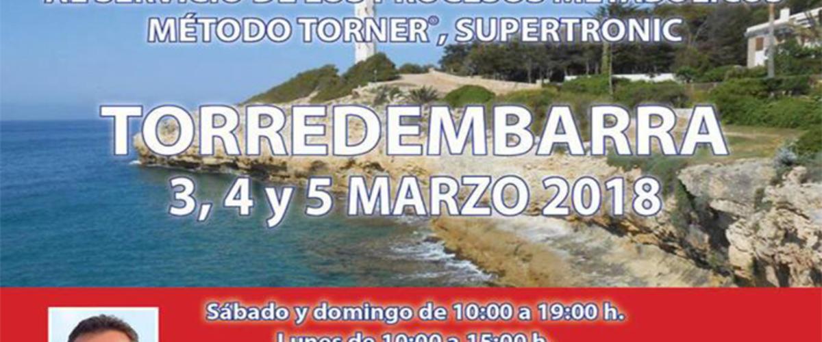 Seminario Método Torner, Supertronic – Torredembarra 3, 4 y 5 marzo 2018