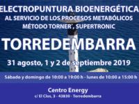 Seminario Energy en Torredembarra: 31 agosto, 01 y 02 septiembre